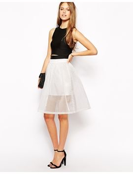 supertrash-steel-full-skirt-in-sheer-white by supertrash