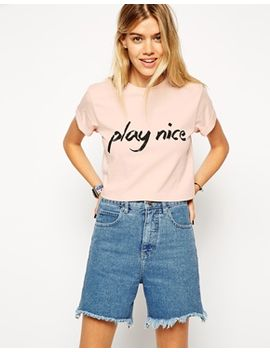 harity-t-shirt-with-play-nice-print by asos