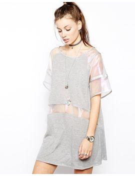 sheer-mesh-panel-t-shirt-dress by the-ragged-priest