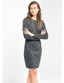 jacquard-leopard-print-dress by mango