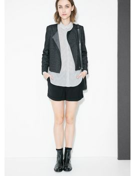 herringbone-wool-blend-jacket by mango