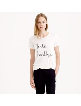 hugo-guinness-for-jcrew-hello-goodbye-linen-t-shirt by jcrew