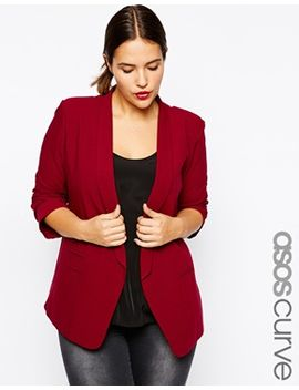 asos-curve-blazer-in-crepe-with-slim-lapel by asos-curve