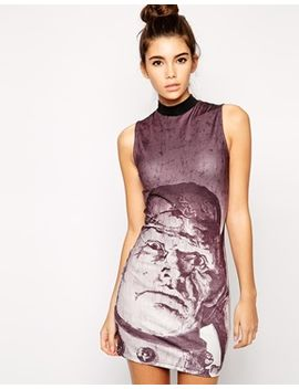 asos-frankenstein-halloween-body-conscious-dress-with-high-neck-in-scuba by asos-collection