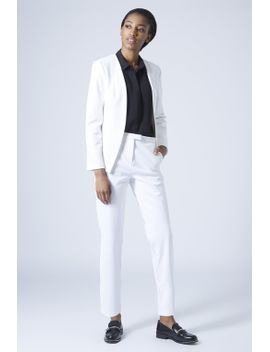 textured-scuba-blazer-and-cigarette-trousers by topshop