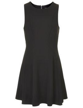 sleeveless-seamed-flippy-dress by topshop