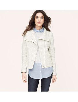 zip-sweatshirt-jacket by loft