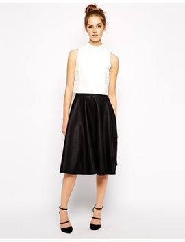 french-connection-flared-skirt-in-pu by french-connection