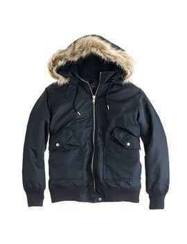 nylon-hooded-bomber-jacket by jcrew