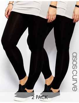 asos-curve-2-pack-full-length-legging by asos-curve