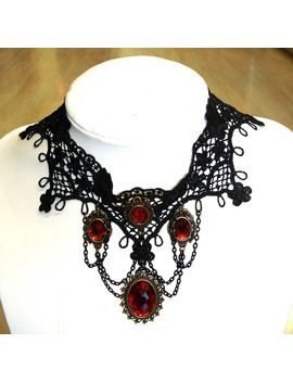 vintage-style-gothic-black-lace-choker by hannah-makes-things
