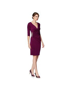 purple-jersey-wrap-occasion-dress by debut