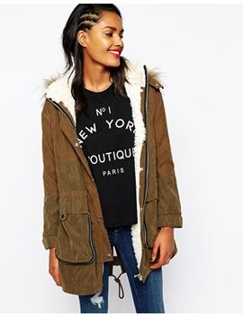 river-island-faux-fur-hood-parka-with-shearling-inner by river-island