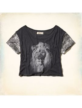 bay-shore-sequin-sleeve-t-shirt by hollister