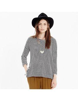 side-button-sweatshirt-in-stripe by madewell