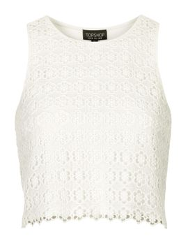crochet-shell-top by topshop