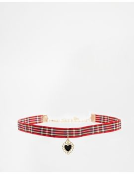 asos-grunge-heart-choker-necklace by asos-collection