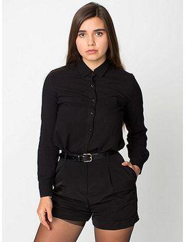pleated-cuff-short by american-apparel