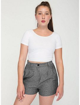 high-waist-pleated-short by american-apparel
