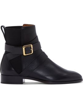 black-nappa-leather-chelsea-boots by chloé