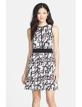 mathilde-print-fit-&-flare-dress by tart