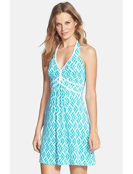 cersei-print-jersey-halter-dress by tart
