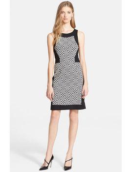 halsey-jacquard-pattern-sheath-dress by trina-turk