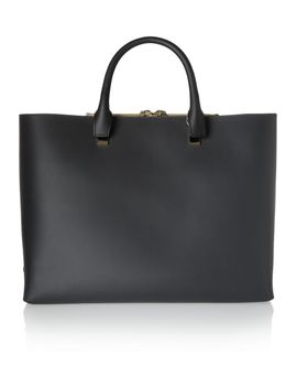 baylee-large-two-tone-leather-tote by chloé
