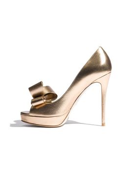 metallic-couture-bow-platform-pump by valentino