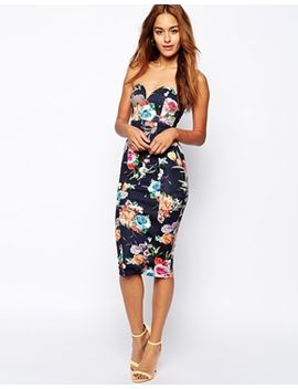 oh-my-love-digital-floral-bandeau-pencil-dress by oh-my-love