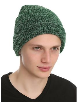 green-marled-beanie by hot-topic