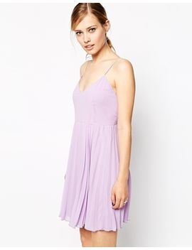 asos-cami-mini-pleated-dress by asos-collection