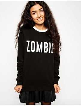 asos-halloween-sweatshirt-with-zombie-print by asos-collection