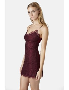 lace-body-con-slipdress by topshop