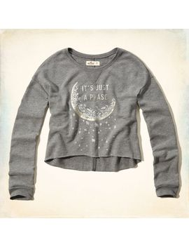 celestial-shine-graphic-cropped-sweatshirt by hollister