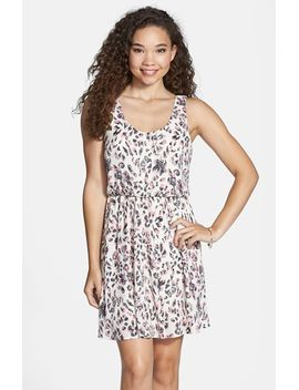print-cross-back-skater-dress by lush