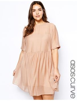 asos-curve-smock-dress-with-zip-back by asos-curve