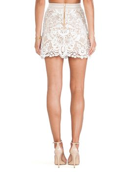 guipure-lace-skirt by self-portrait