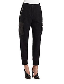 stretch-tweed-track-pants by t-by-alexander-wang