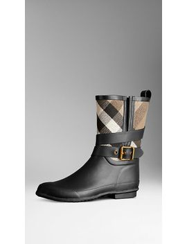 belted-check-rain-boots by burberry