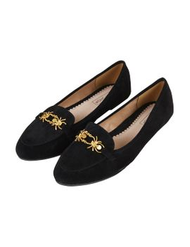spider-trimmed-slippers by topshop