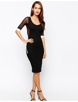 quontum-body-conscious-midi-dress-with-trim-detail by evening-dress