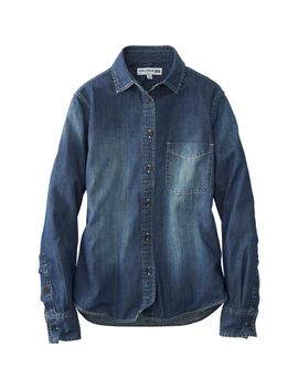 women-idlf-denim-long-sleeve-shirt by uniqlo