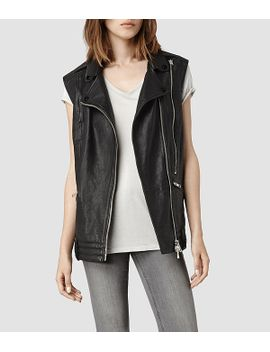 bristow-leather-gilet by allsaints