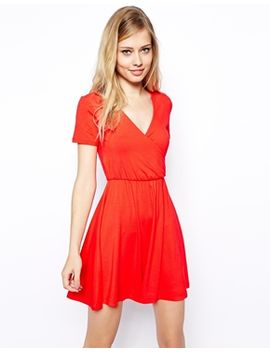 asos-skater-dress-with-wrap-front by asos-collection