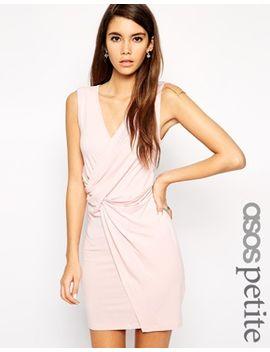 asos-petite-exclusive-twist-front-body-conscious-dress by asos-petite