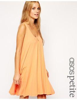 asos-petite-basic-pocket-swing-dress by asos-petite