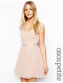 asos-petite-exclusive-eyelash-lace-skater-dress by asos-petite