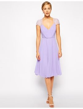 asos-lace-insert-pleated-midi-dress by asos-collection