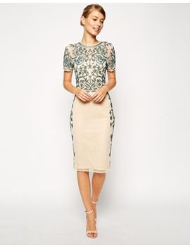 asos-baroque-embellished-midi-shift-dress by asos-collection
